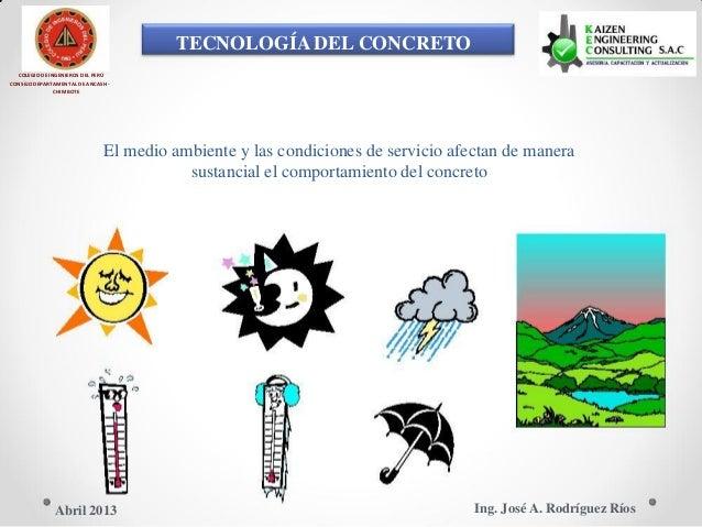 TECNOLOGÍA DEL CONCRETO COLEGIO DE INGENIEROS DEL PERÚ CONSEJO DEPARTAMENTAL DE ANCASH - CHIMBOTE El medio ambiente y las ...