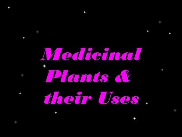 MedicinalPlants &their Uses