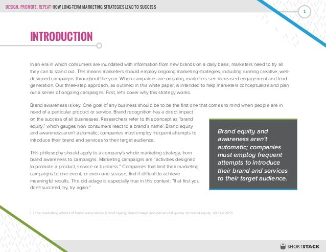 Design, Promote, Repeat: How Long-Term Marketing Strategies Lead to Success Slide 3