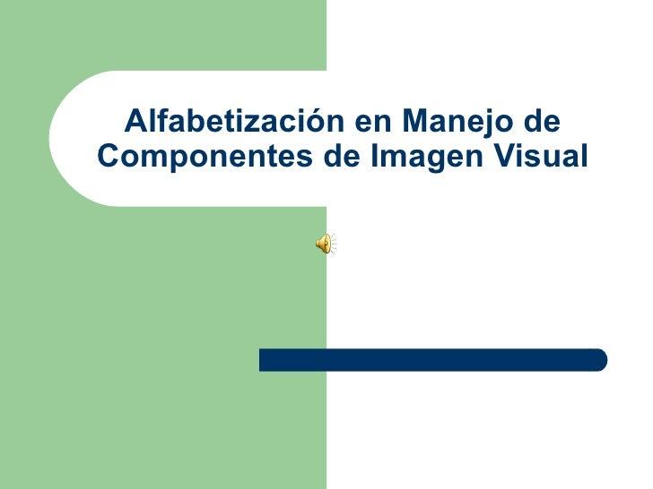 Alfabetización en Manejo de Componentes de Imagen Visual