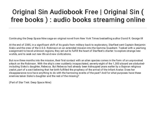 Original Sin Audiobook Free Original Sin Free Books Audio Bo
