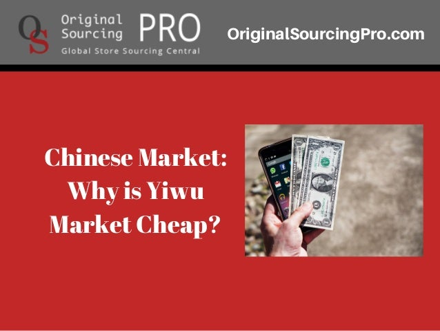 China products sourcing - Dropshipping - Yiwu Market Guide
