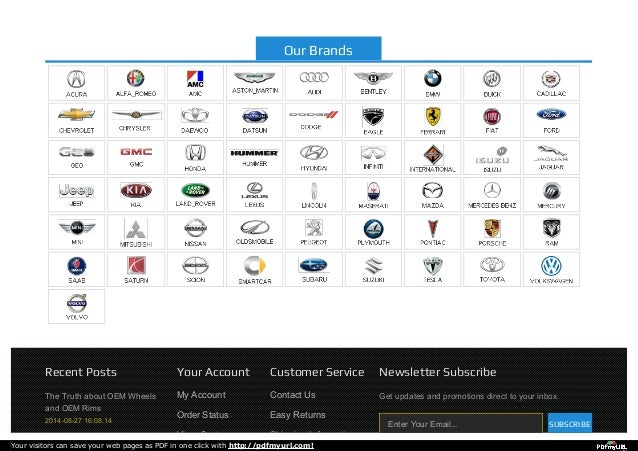 The Truth about OEM Wheels and OEM Rims 2014-08-27 16:08:14 Recent Posts Your Account My Account Order Status View Cart Cu...