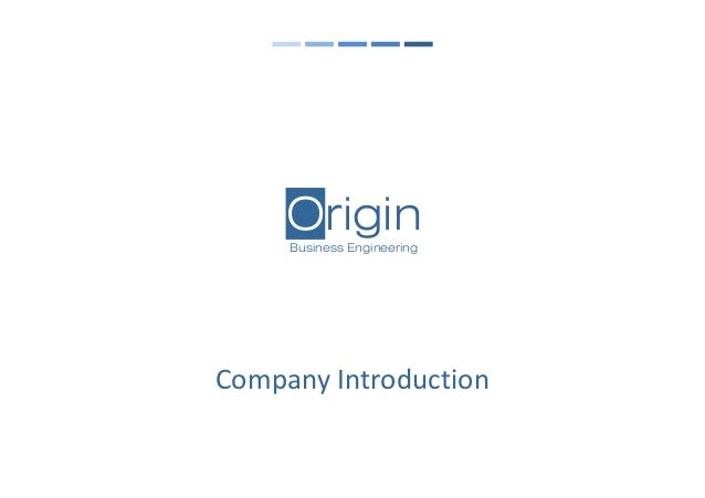 OriginBusiness Engineering Company Introduction