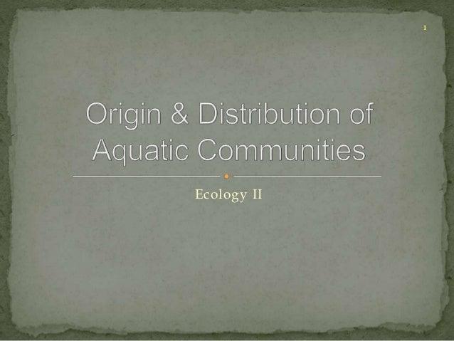 Ecology II  1