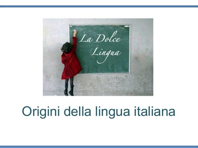 Origini della lingua italiana