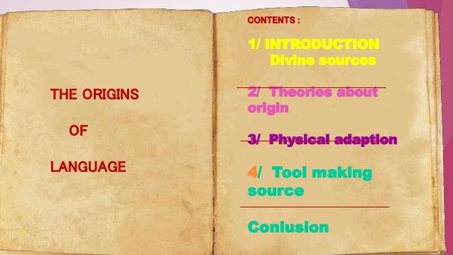 Origin of language  Slide 2