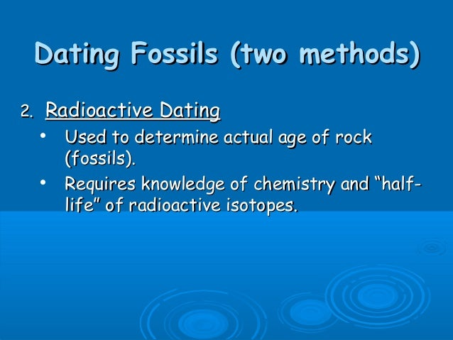 radioactive isotopes used in dating fossils