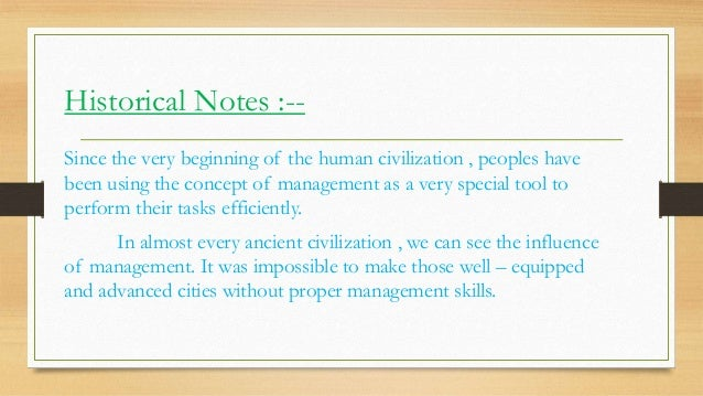 Origin of management Slide 3