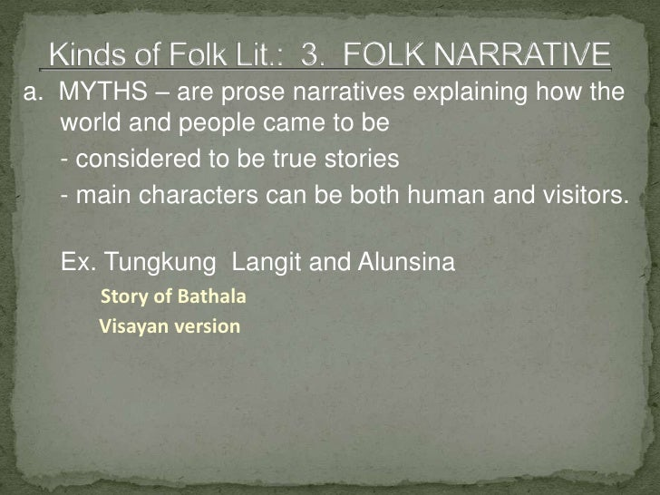 subanon folk literature Buy 'literature / poetry' essays for college student research or reference an example term paper on 'literature  folk tales, epics, poems  guman (subanon.
