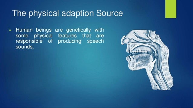 The physical adaption Source  Human beings are genetically with some physical features that are responsible of producing ...