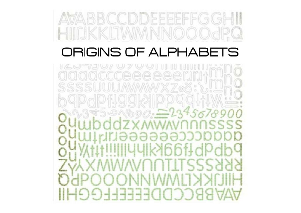 origin of the word alphabet
