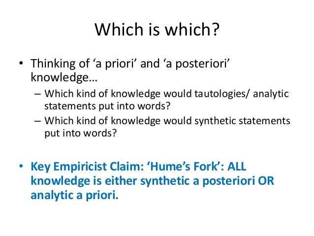 Analytic–synthetic distinction