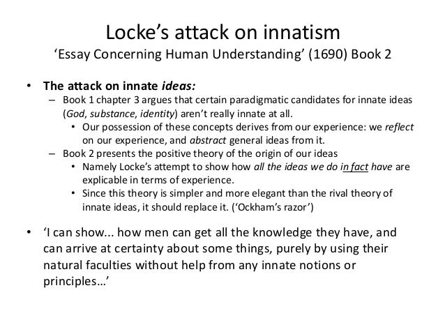locke essay concerning human understanding analysis An essay concerning human understanding with the author's last additions and corrections complete in one vol, with notes and illustrations, and an analysis of mr locke's doctrine of ideas.