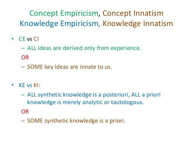Origins of knowledge 2016 revision 1. concept empiricism Slide 3