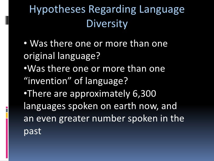 Invention Hypotheses<br />Renditions of animal sounds differ considerably from language to language, even though the anima...