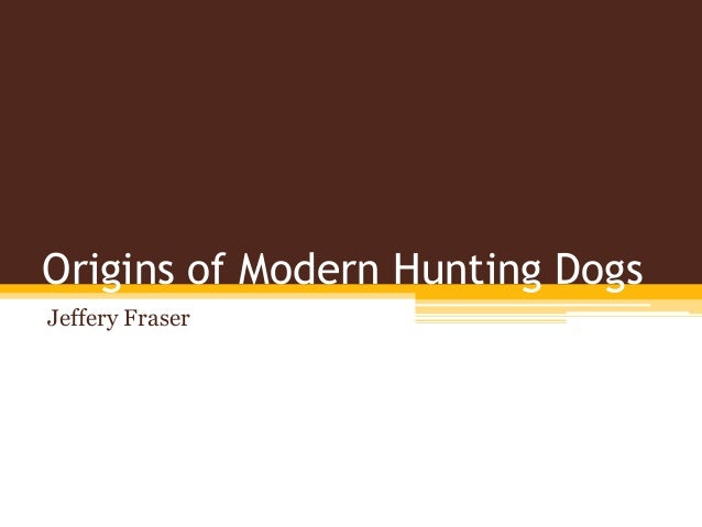 Origins of Modern Hunting Dogs Jeffery Fraser