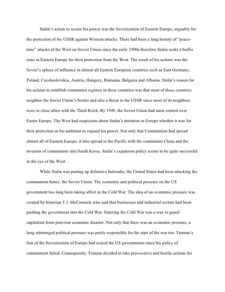 the outbreak of the cold war essay The eleanor roosevelt papers project is a university the outbreak of the the united states and the origins of the cold war , 1941-1947 new york.