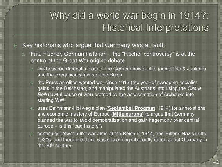 fritz fischer thesis ww1