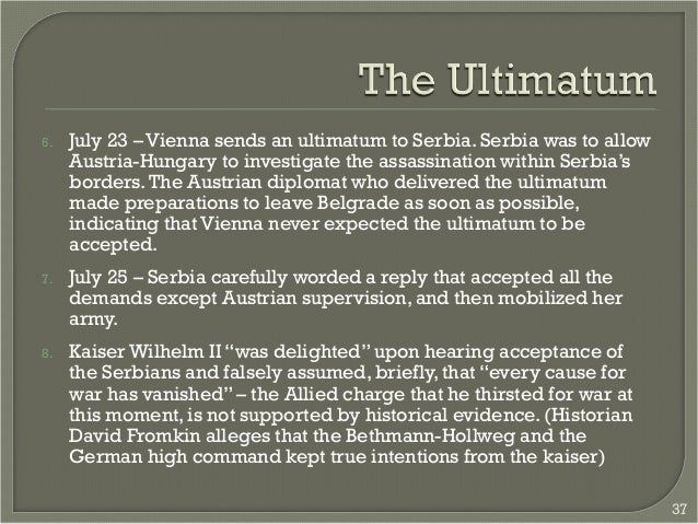 an analysis of the austro hungarian ultimatum to serbia Serbia in the great war anglo-saxon testimonies and historical analysis, belgrade: national library of serbia, 2015, 9-36.