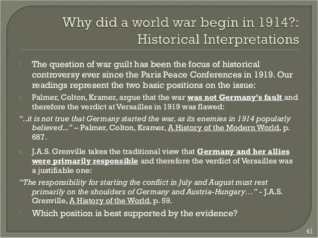 origins of ww1 Discover librarian-selected research resources on world war i causes from the questia online library, including full-text online books, academic journals, magazines, newspapers and more home » browse » history » military history » wars, battles, and military interventions » world war i » world war i causes.