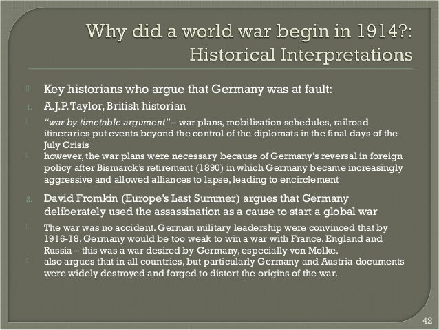 did germany start the war essay Essays on germany blame ww1 how far was germany to blame for causing war this essay will discuss that germany didn't take full did germany start the war.