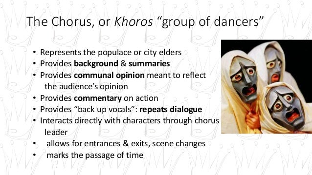 the role of chorus in greek