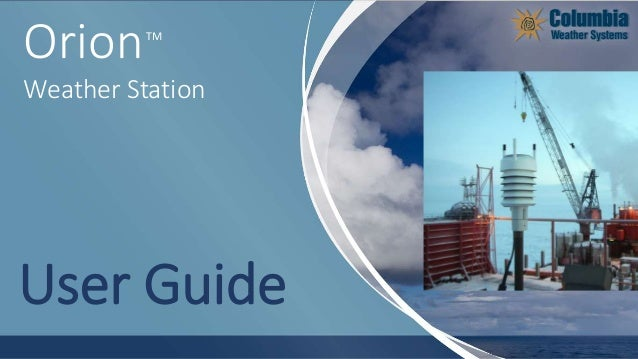 TM Orion Weather Station User Guide