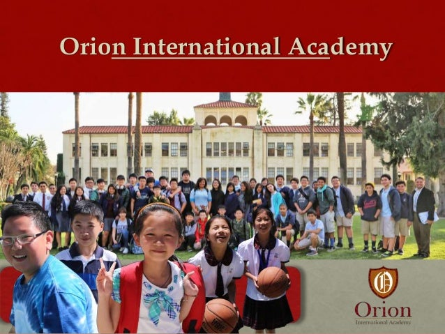 """Orion International Academy  """"Sharing the responsibility for educating our children."""" -Vielka McFarlane President"""
