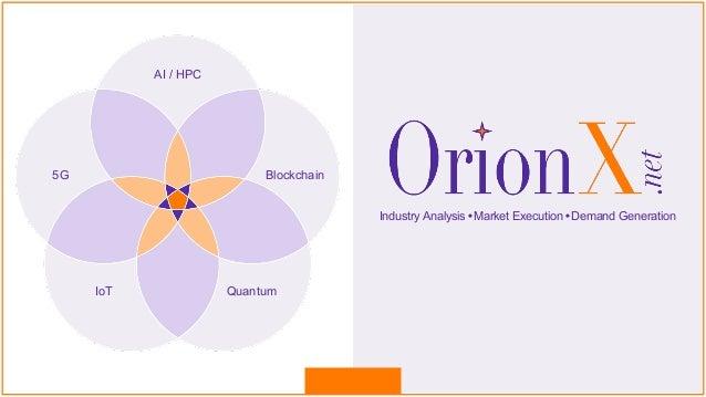 @ShahinKhan ©2020 OrionX.net 1 OrionX.net QuantumIoT 5G Blockchain AI / HPC Industry Analysis•Market Execution•Demand Gene...