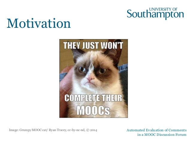 Automated Evaluation of Comments in a  MOOC Discussion Forum Slide 2