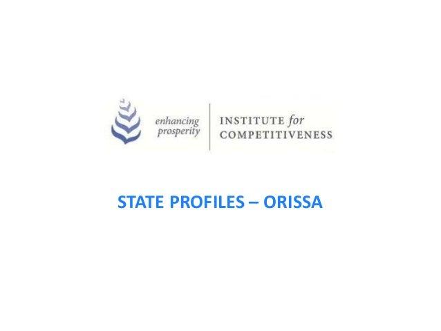 STATE PROFILES – ORISSA