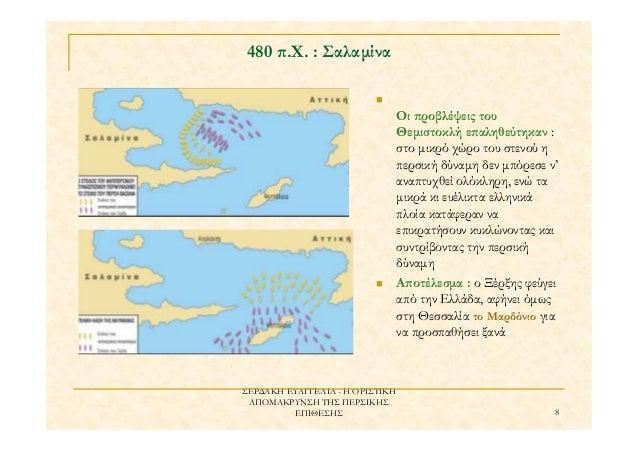 ΣΕΡ∆ΑΚΗ ΕΥΑΓΓΕΛΙΑ - Η ΟΡΙΣΤΙΚΗ ΑΠΟΜΑΚΡΥΝΣΗ ΤΗΣ ΠΕΡΣΙΚΗΣ ΕΠΙΘΕΣΗΣ 8 480 ̟.Χ. : Σαλαµίνα Οι ̟ροβλέψεις του Θεµιστοκλή ε̟αληθ...