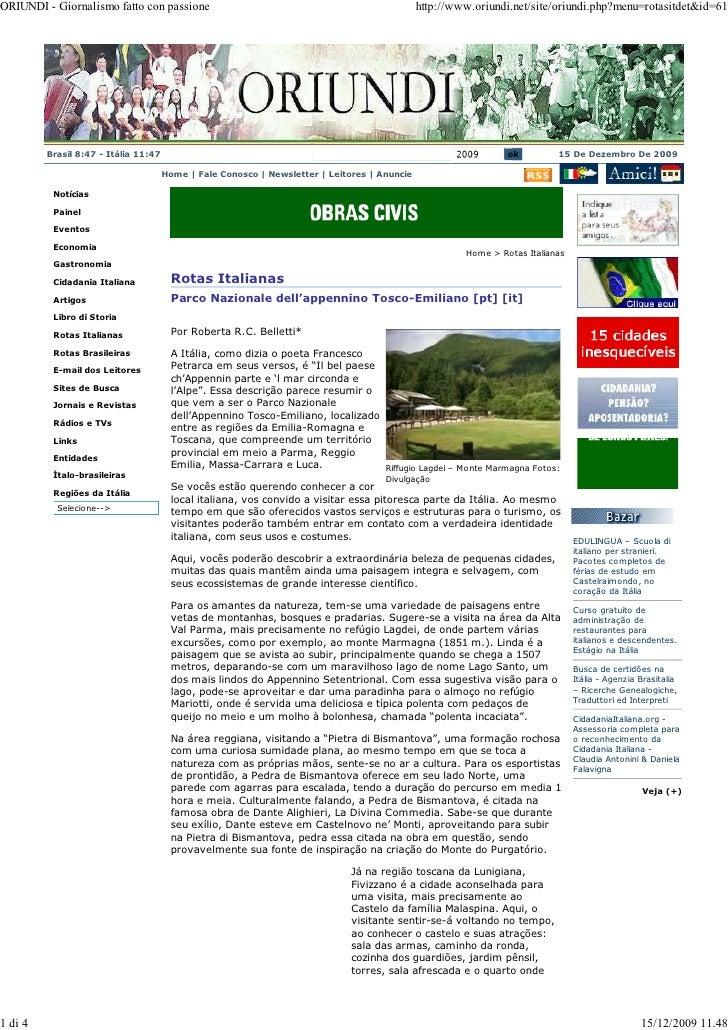ORIUNDI - Giornalismo fatto con passione                                                      http://www.oriundi.net/site/...