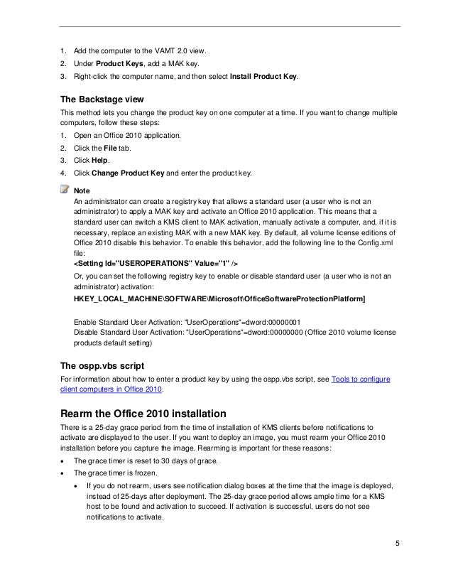 Deployment guide for Microsoft Office 2010 for IT professionals.
