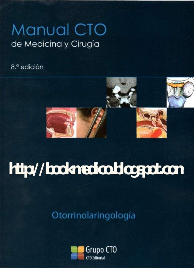manual de otorrinolaringologia CTO