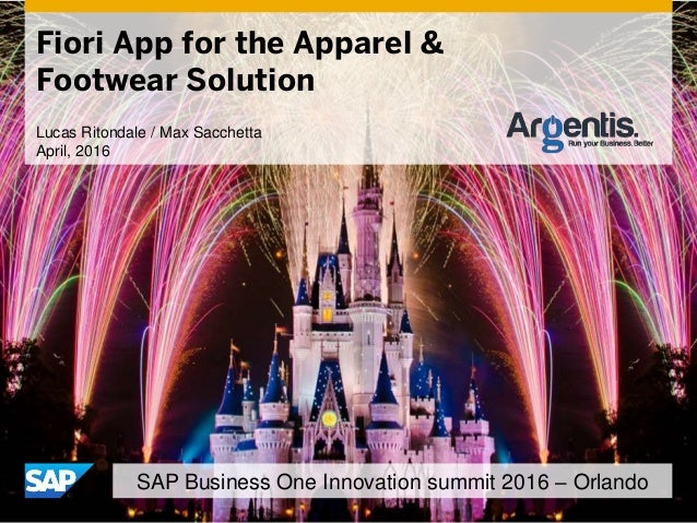 Fiori App for the Apparel & Footwear Solution