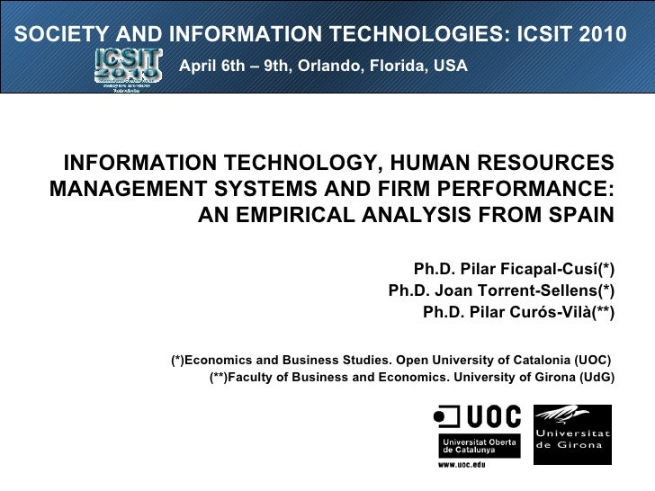 Hrm and technology