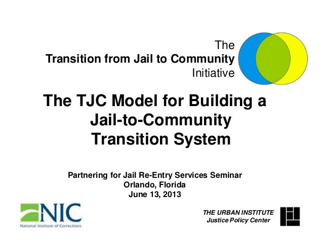 The TJC Model for Building a Jail-to-Community Transition System Partnering for Jail Re-Entry Services Seminar Orlando, Fl...