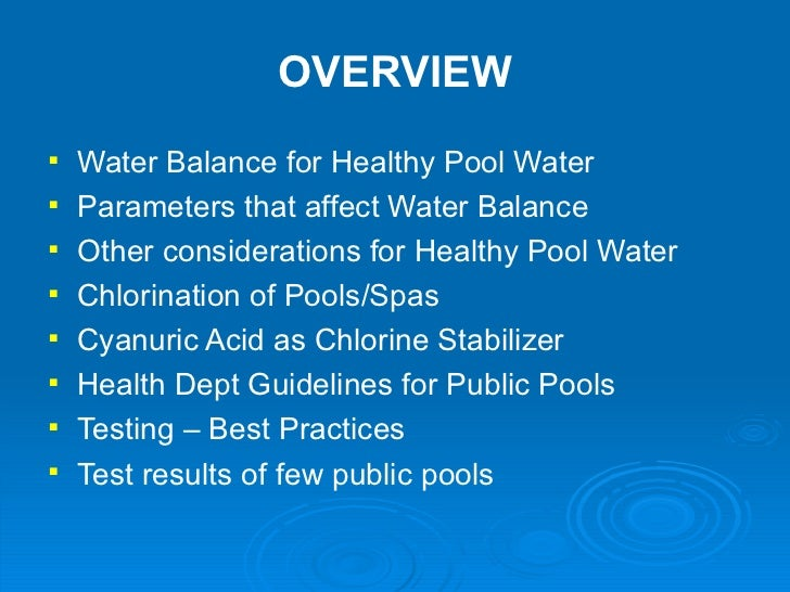 Orlando pool spa 2012 presentation for Show parameter pool