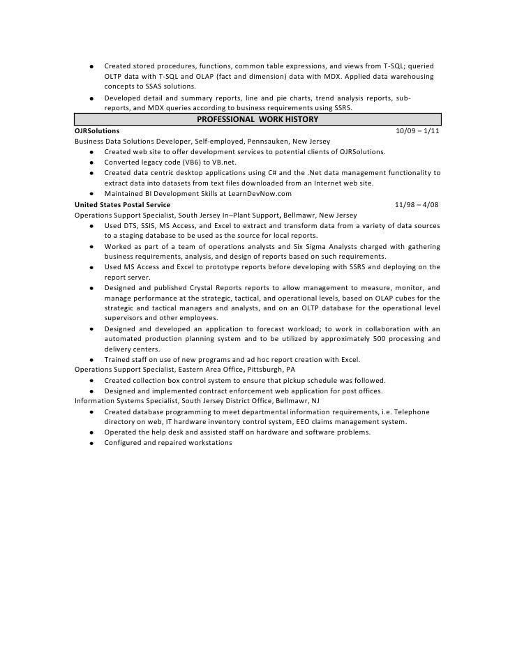 Superb SlideShare Regarding Bi Developer Resume