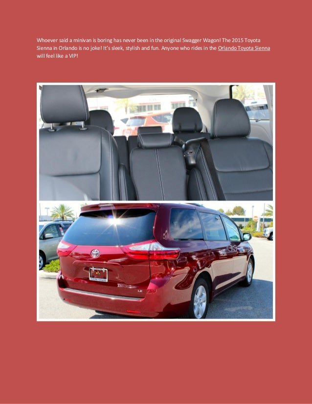 Orlando Toyota Sienna For Families