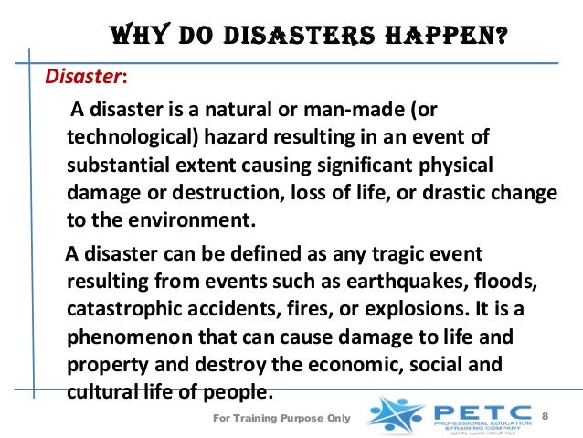 What Kind Of Natural Disaster Can People Cause