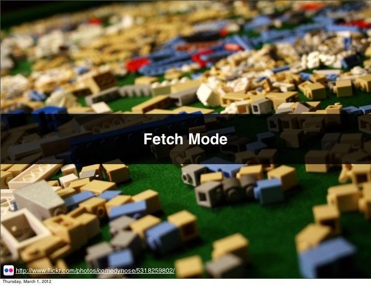 Fetch Mode      http://www.flickr.com/photos/comedynose/5318259802/Thursday, March 1, 2012