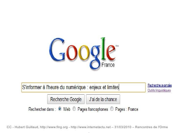 CC - Hubert Guillaud,  http://www.fing.org  - http://www.internetactu.net – 31/03/2010 – Rencontres de l'Orme