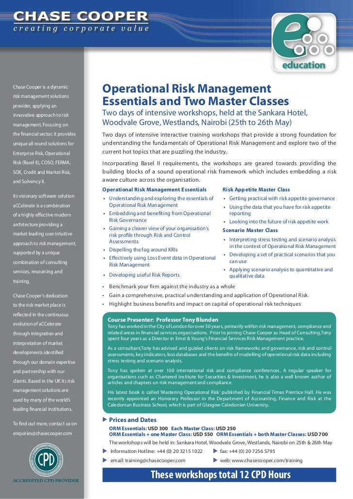 educationChase Cooper is a dynamic                                    Operational Risk Management                         ...