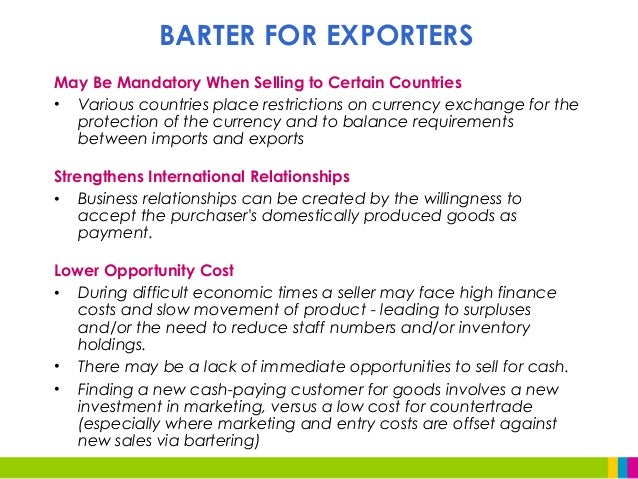 Accounting For Barter