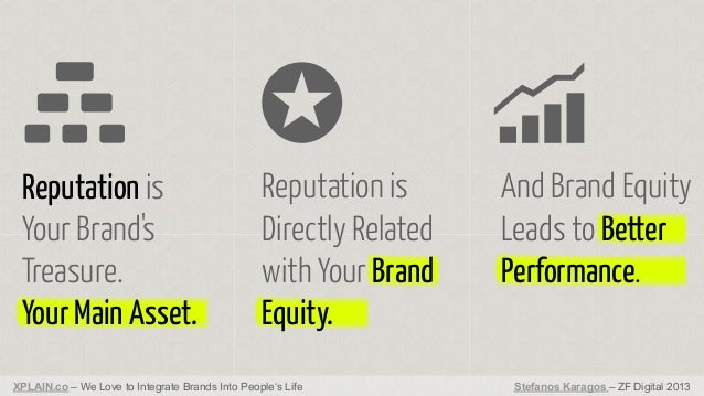 Reputation is Your Brand's Treasure. Your Main Asset.  Reputation is Directly Related with Your Brand Equity.  XPLAIN.co –...