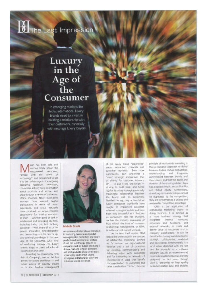 Luxury in the Age of the Consumer