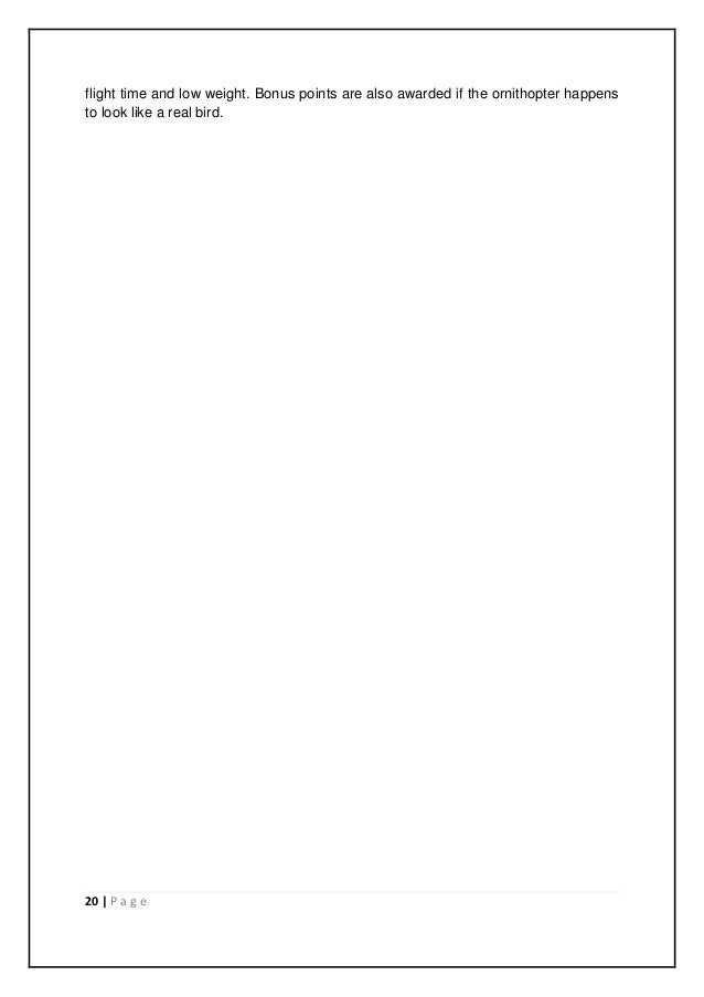 Ornithopter design manual